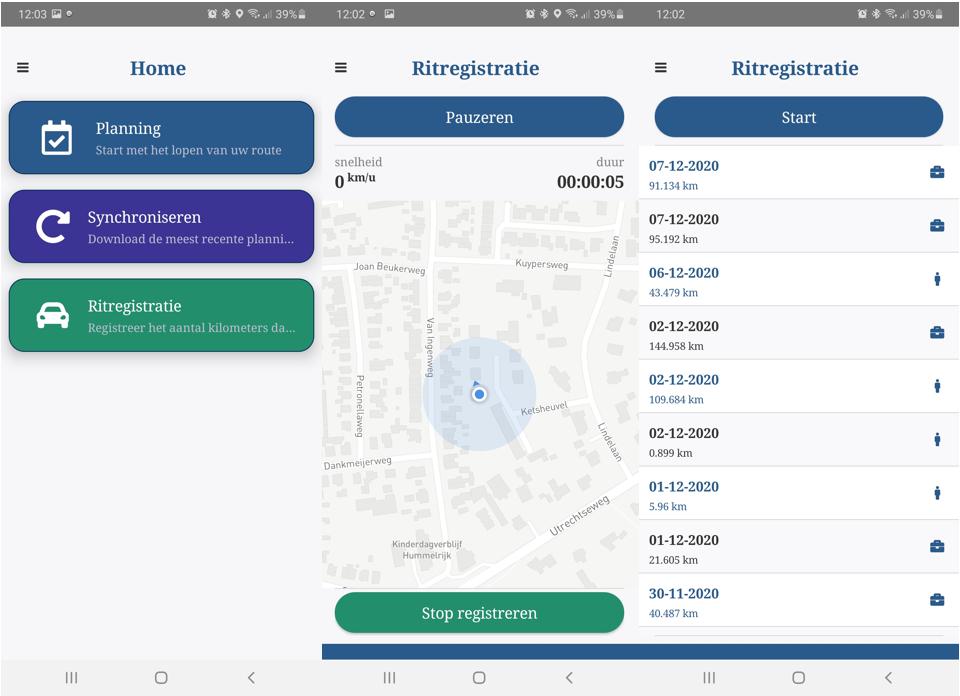Rittenregistratie app
